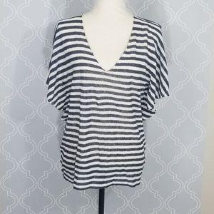 Ulla Johnson Blue White Stripe Linen Top
